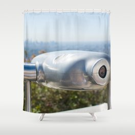 Coin operated telescope at the Griffith Observatory Shower Curtain