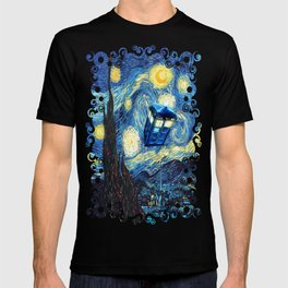 Soaring Tardis doctor who starry night iPhone 4 4s 5 5c 6, pillow case, mugs and tshirt T-shirt