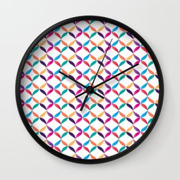 Colorful Laces Wall Clock
