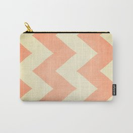 Fuzzy Navel - Peach Chevron Carry-All Pouch