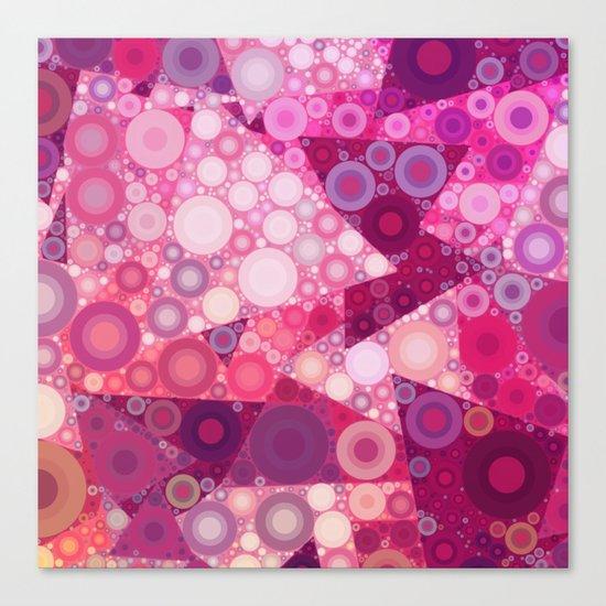 Pink Sherbet Bubbles Canvas Print