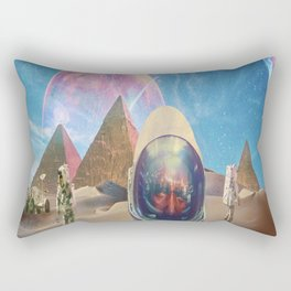 Astronauts in the Desert Rectangular Pillow