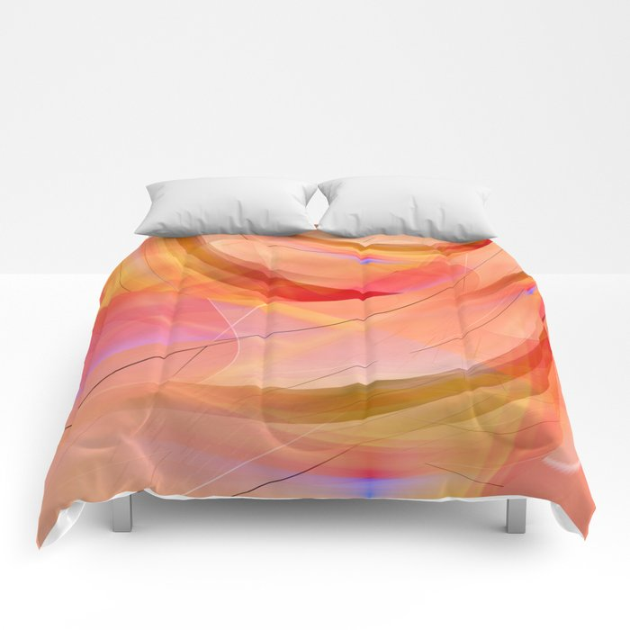pattern orange abstract no. 3 Comforters