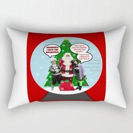 Danny Phantom snowglobe Christmas card Rectangular Pillow