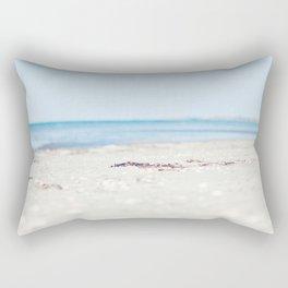 By beach Rectangular Pillow