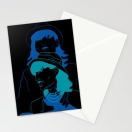 Run Blue Run Stationery Cards