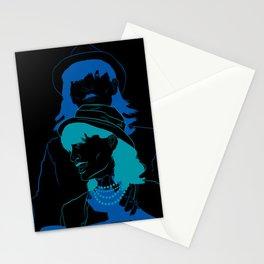 Run Blue Run Stationery Cards