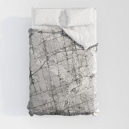 Toronto White Map Comforters