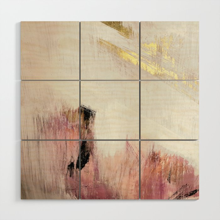 Sunrise [2]: a bright, colorful abstract piece in pink, gold, black ...