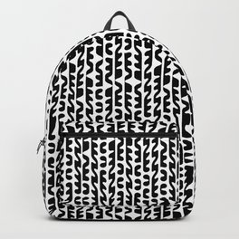Black and White Futuristic Heiroglyphs Backpack
