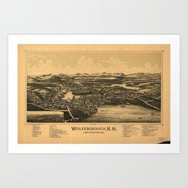 Aerial View of Wolfeborough, New Hampshire (1889) Art Print