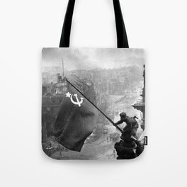 Raising a Flag over the Reichstag Tote Bag