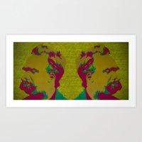 nietzsche Art Prints featuring Friedrich Nietzsche by AngelaCorrin