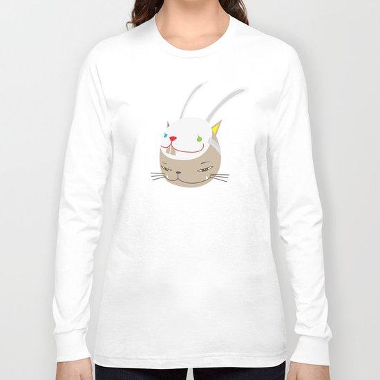 CAT WITH RABBITZ MASK Long Sleeve T-shirt