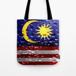 Flag of Malaysia - Raindrops Tote Bag