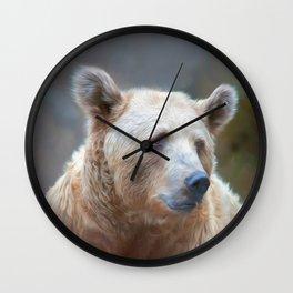 Bear Necessities      (digital painting) Wall Clock