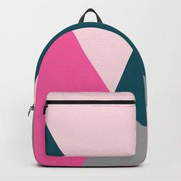 Pink & green geometric design Backpack