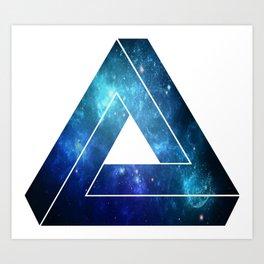 Penrose Triangle -Space Art Print
