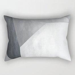 Grey tonal cube painting Rectangular Pillow