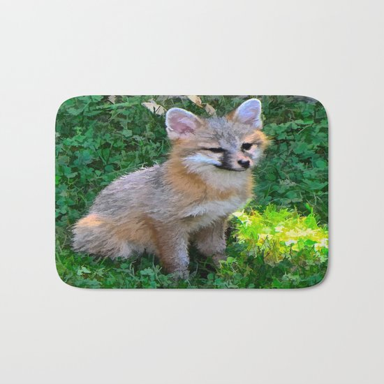 Little Grey Fox Bath Mat