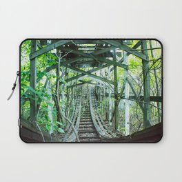 Nature  has taken over, Old Fun abandoned roller coaster Laptop Sleeve