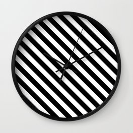 Classic Stripes (Black&White) Wall Clock