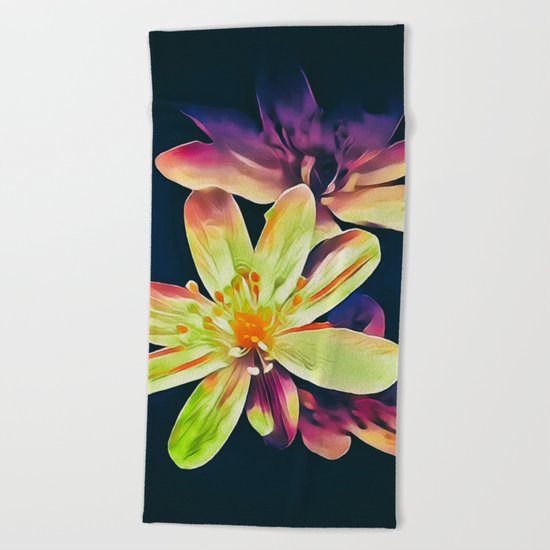 Morning in the garden Beach Towel