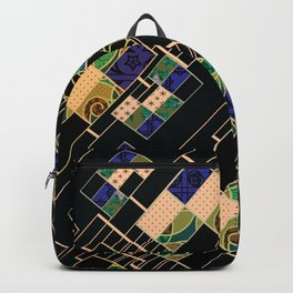 Creative patchwork. Backpack