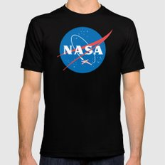 Nasa x Wing fighter Mens Fitted Tee X-LARGE Black