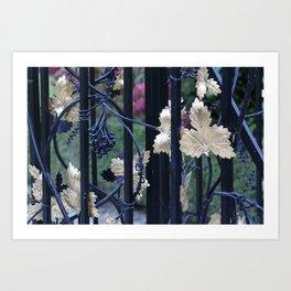 Grapevine Gate Art Print