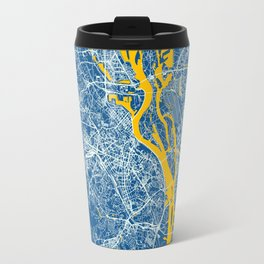 Kiev, Ukraine street map Travel Mug
