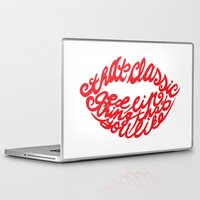 lip Laptop & iPad Skins featuring Red lip by saralucasi