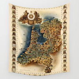 Map of Holland Wall Tapestry