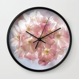 Branch of Cherry Blossom - Pink flowers Wall Clock