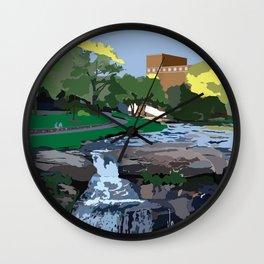 Falls Park On The Reedy, Greenville, SC Wall Clock