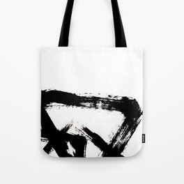 Brushstroke [8] - a simple, abstract, black and white india ink piece Tote Bag