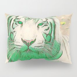 Green Tiger Pillow Sham
