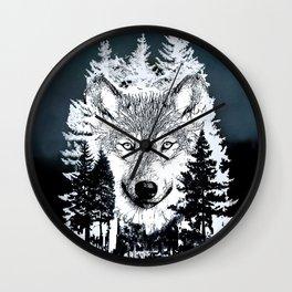 Forest Wolf Art Wall Clock