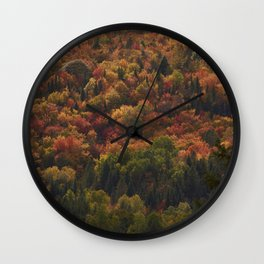 Colours in Saint Élie de Caxton - Mauricie - Canada Wall Clock