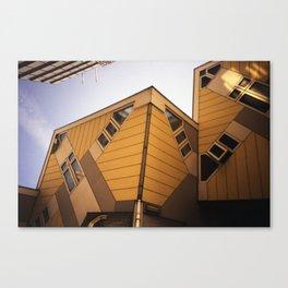 Cube houses Canvas Print