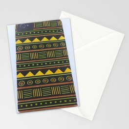 aztec design yellow Stationery Cards