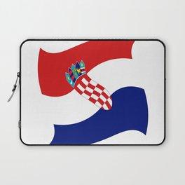 Flag of croatia 4 -croatian, Hrvatska,croat,croacia,Zagreb,split,rijeka,osijek. Laptop Sleeve