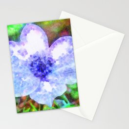 Blue Anemone Watercolor Stationery Cards