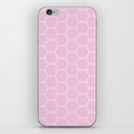 Honeycomb Light Pink #326 iPhone Skin