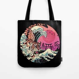 Rad Tiger Wave Tote Bag