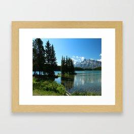 Island In the Lake Framed Art Print