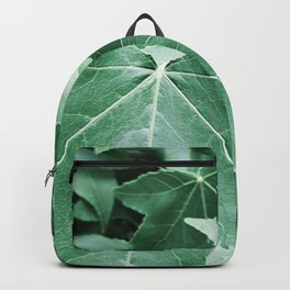 Green leaves summer plant Backpack