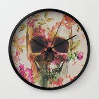 skull Wall Clocks featuring Skull by Andreas Lie