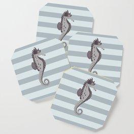 AFE Grey Nautical Seahorse Coaster