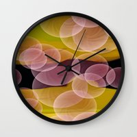 bubbles Wall Clocks featuring Bubbles by lillianhibiscus